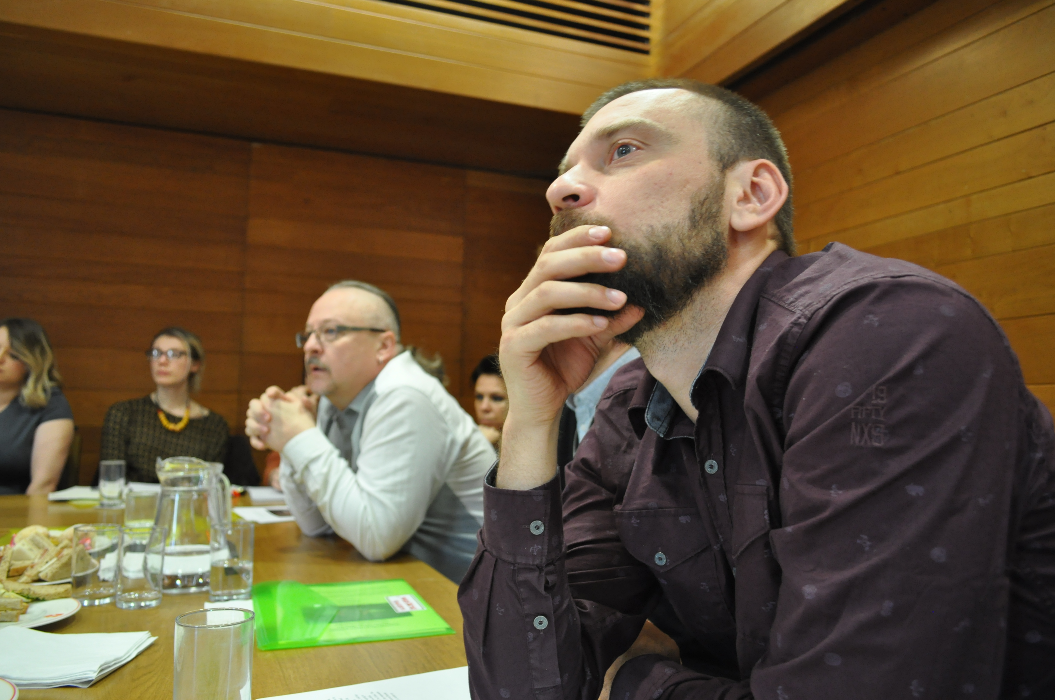 Playwright Mikhail Durnenkov at New Drama conference