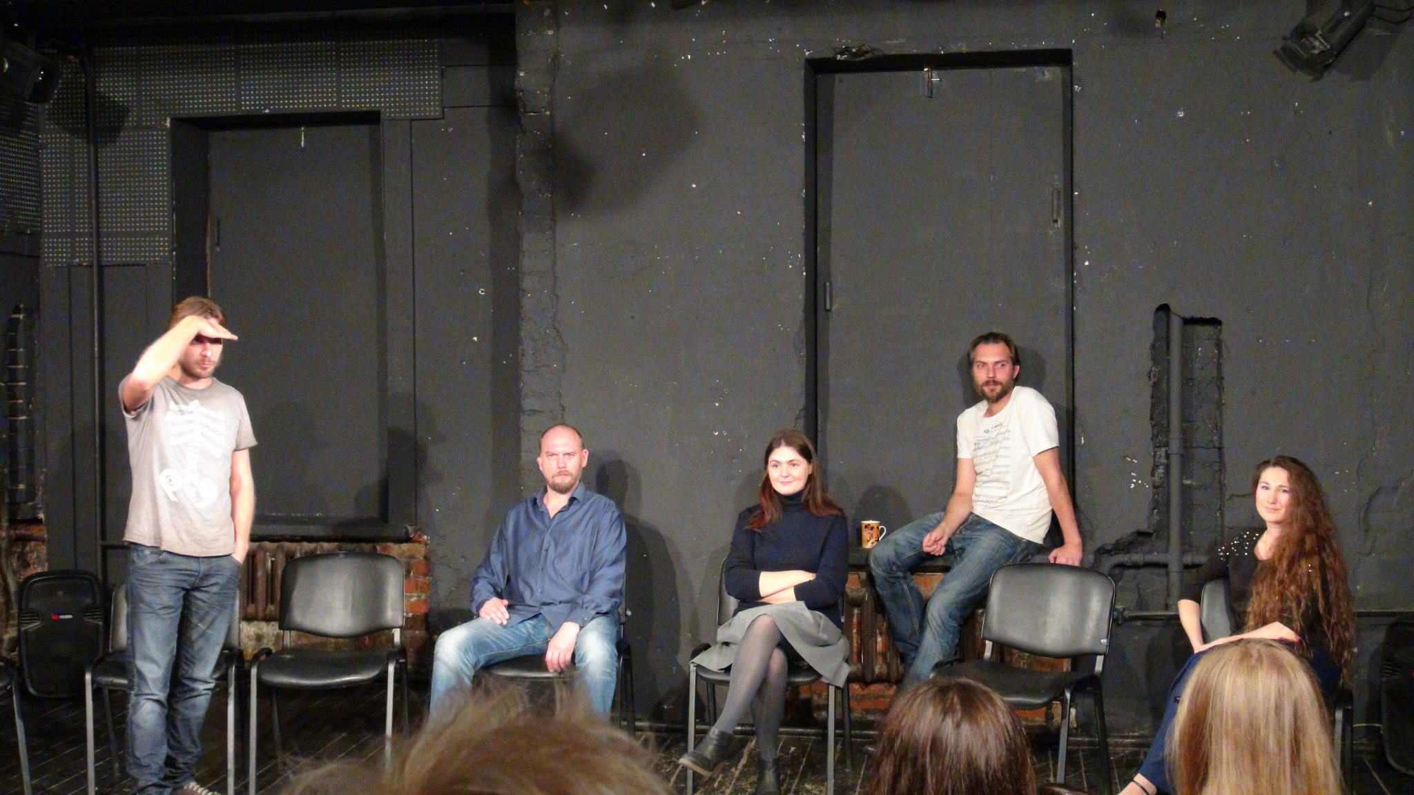 poet Andrei Rodionov at New Drama playreading festival