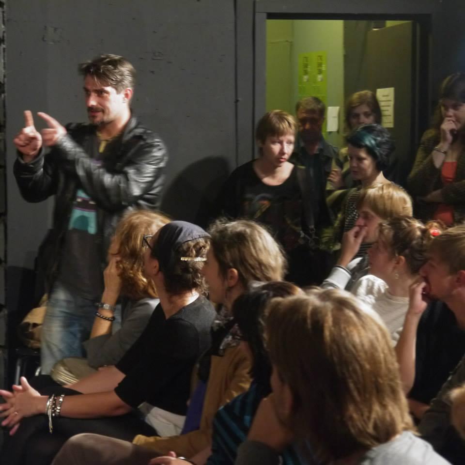 Yuri Strike Kladiev conceptualizing New Drama at Liubimovka Festival
